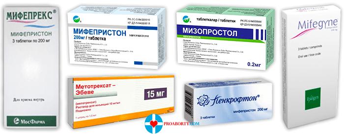Таблетки для медикаментозного прерывания беременности