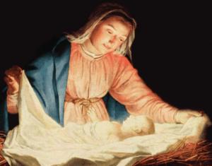 Девушка укрывает младенца в колыбели картинка