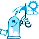Презерватив с зонтом под солнцем картинка