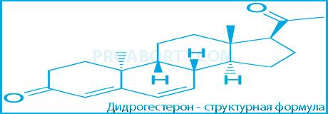Дидрогестерон структурная формула картинка