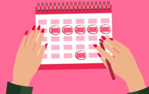 Девушка отмечает дни на календаре картинка