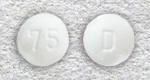 Белые таблетки с надписью 75 и D препарата лактинет картинка