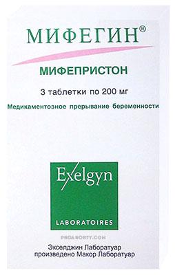Мифегин упаковка антигестагенного препарата